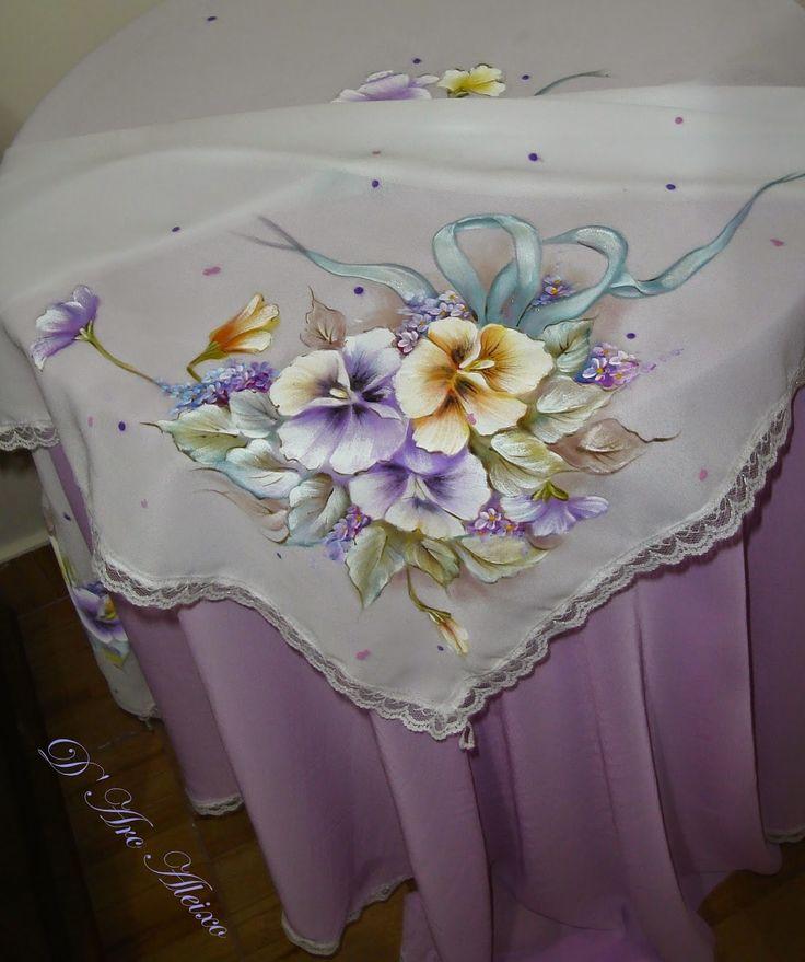 499 best pintura en tela manteles caminos de mesa - Manteles para mesa ...