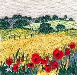 Poppies on Goodwins Lane Textured Embroidery Kit 0048
