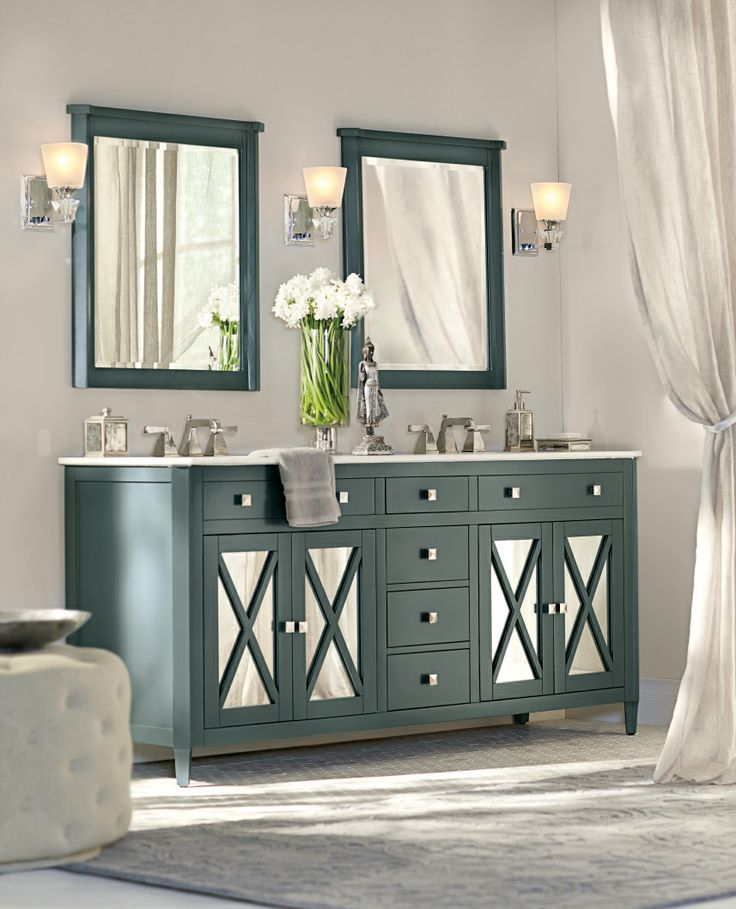 A Mirrored Bath Vanity Adds High Style To Any Bathroom Bath Homedecorators Com