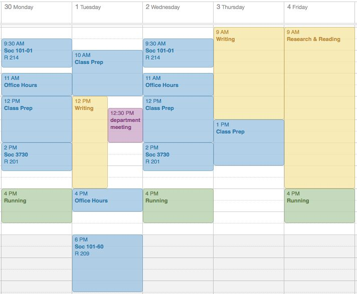 daily schedule academic phd - Google Search
