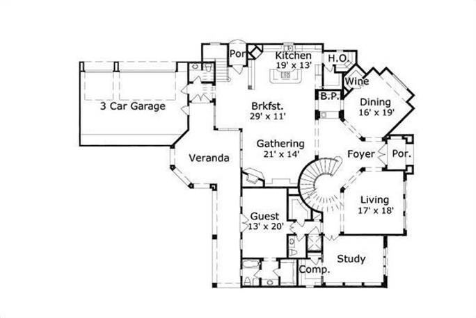17 best images about house plans on pinterest house for 3 car side load garage