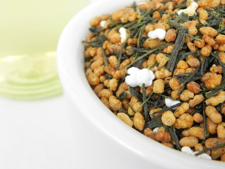 Genmaicha Tea - A blend of brown rice and green sencha tea. The rice mellows this typically grassy tea; resulting in a sweet, light-bodied cup with a slightly roasted flavor | Spice & Tea Exchange