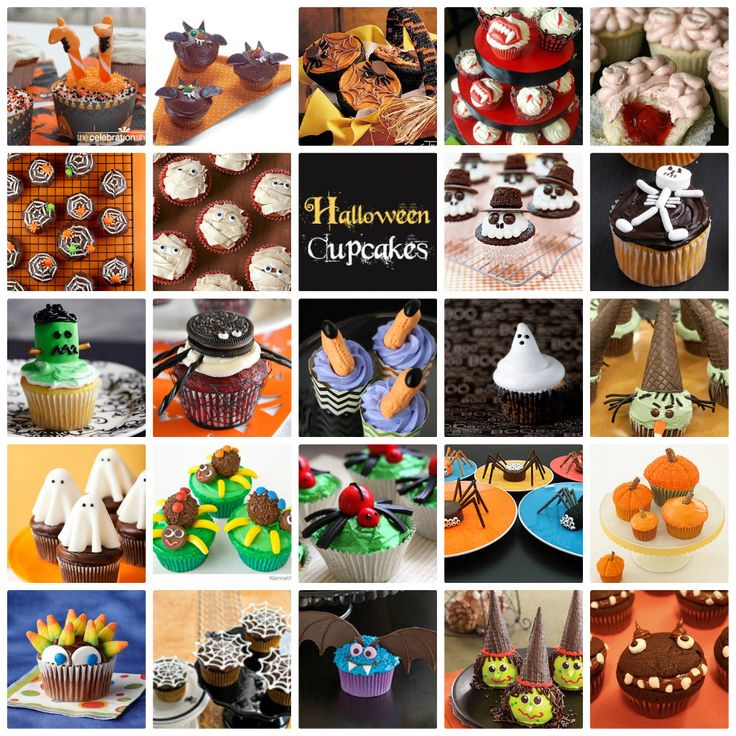 Loads of Halloween cupcake inspiration! http://www.skiptomylou.org/2012/10/05/24-great-halloween-cupcakes/