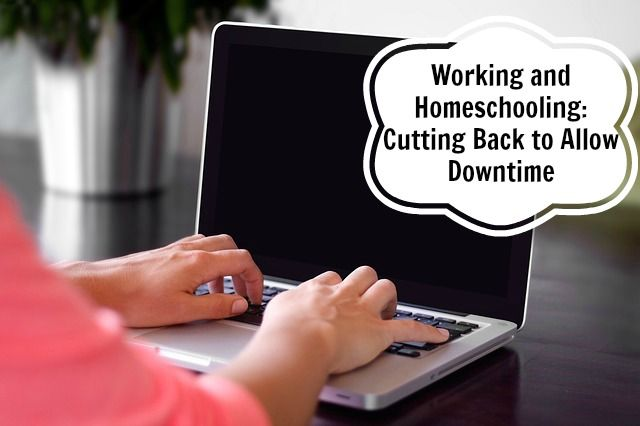 Working and Homeschooling:  Cutting Back to Allow Downtime – Eclectic Homeschooling