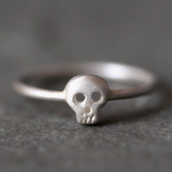 Baby Skull Ring in Sterling Silver $62: Skulls, Babies, Michele Changing, Michelle Changing Jewelry, Minis Skull, Thumb Rings, Sterling Silver, Baby Skull, Skull Rings