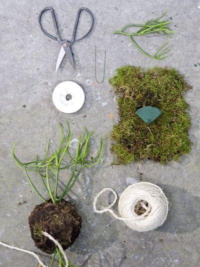 Kokedama moss pot DIY | Girlfriend is Better