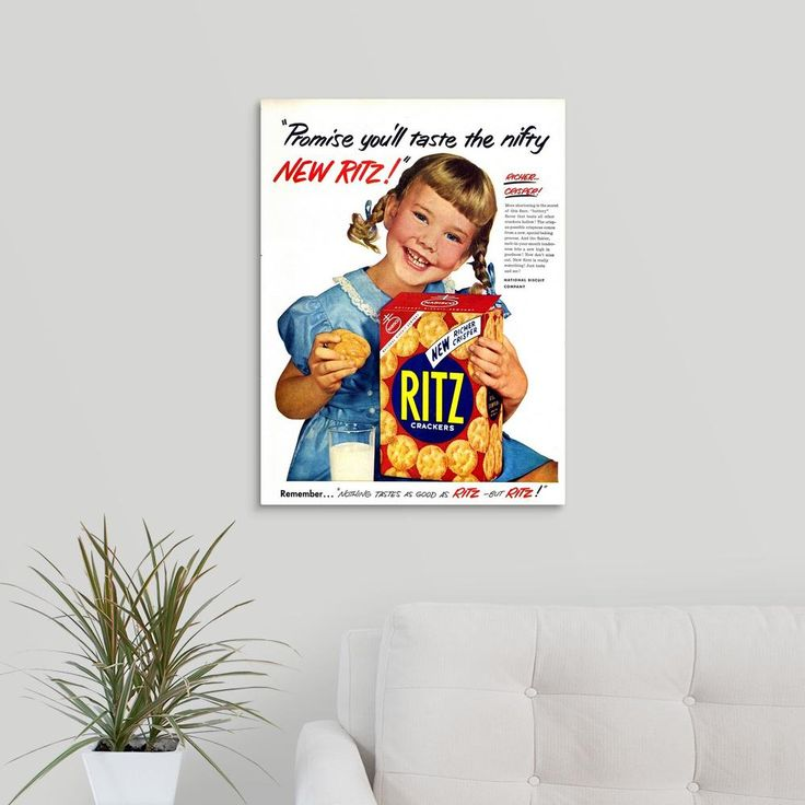 "18 in. x 24 in. ""Ritz Crackers Advertisement"" by Advertising Archives Canvas Wall Art"