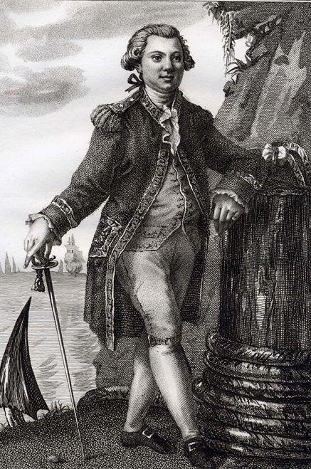 La+Perouse.1785. Jean-François Galaup, conde de La Pérouse en Tenerife.