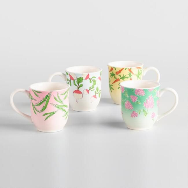Peter Rabbit Veggie Mugs Set of 4 - v1