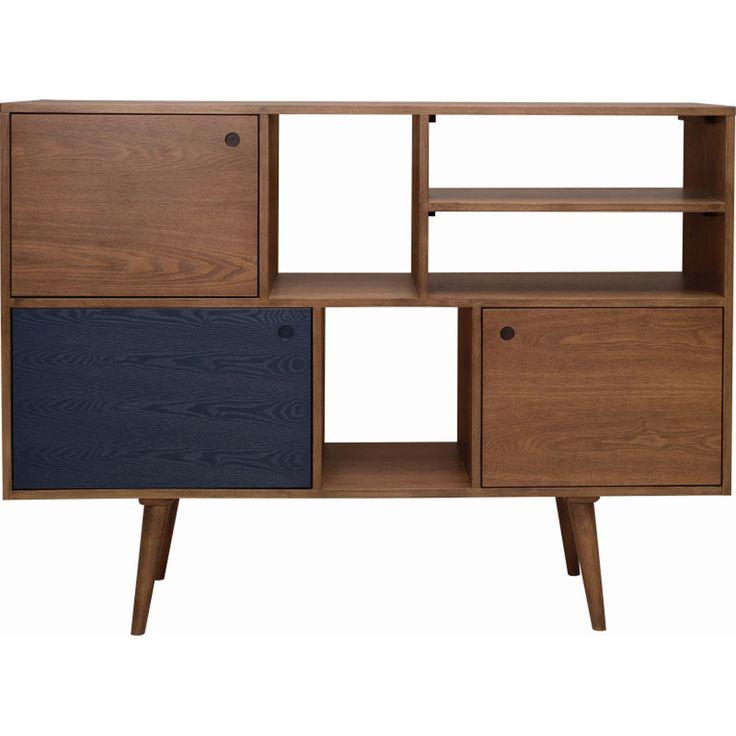 Modern Scandinavian Retro Wooden Sideboard Cabinet Storage Unit W/ Drawers T1313
