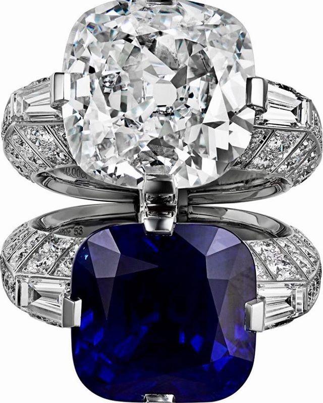 Cartier 10 Carat Diamond 15 Carat Kashmir Sapphire Ring Cartier Jewelry Dream Jewelry Fine Jewelry