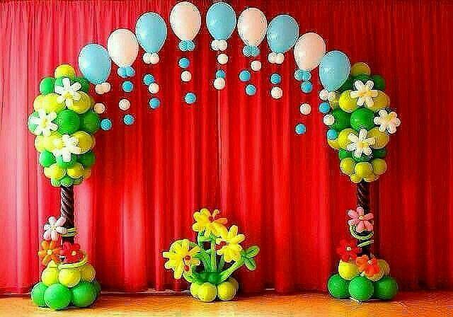 Arco flores y arbol globo                                                                                                                                                                                 Más