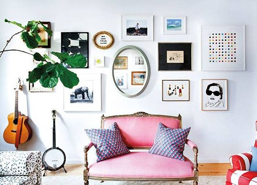 art gallery wall inspiration via kate schelter's home tour in domino. / sfgirlbybay