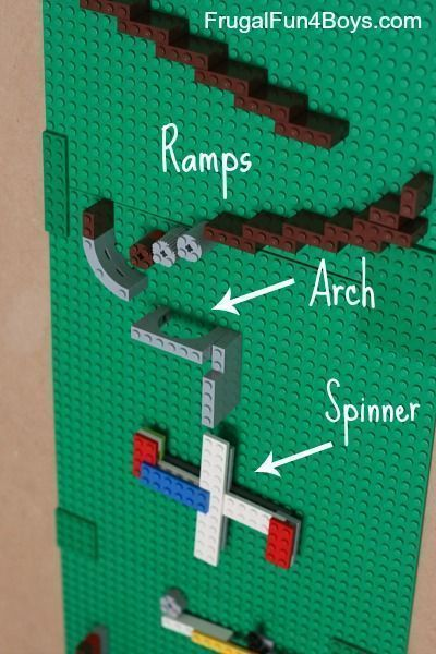 how to make a Lego Marble Run - great learning with Lego activity Frugal Ideas, simple living #frugal