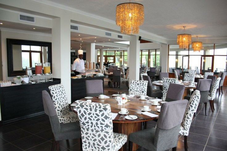 Jozini Tiger Lodge & Spa's stylish restaurant offering a host of delectable meals.....