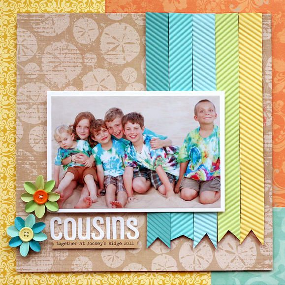 Be inspired! Using Creative Memories product, this layout is the perfect way to use up spare scraps. #CreativeMemories #Scrapbooking www.creativememories.com