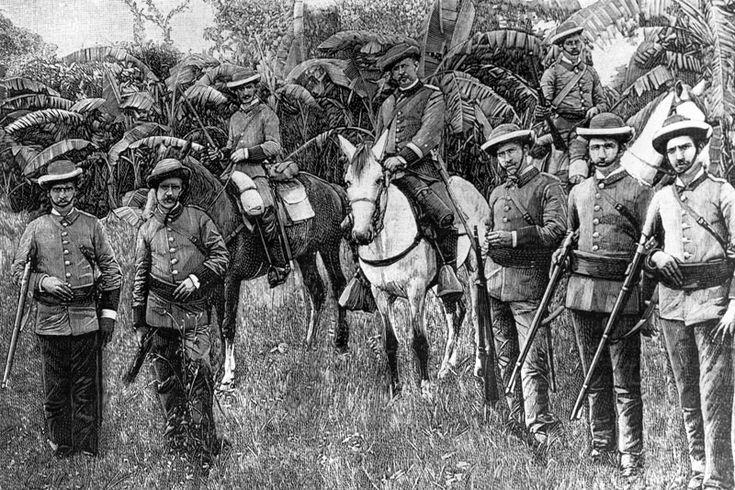 Guardia Civil de Cuba. Santiago de Cuba en 1895.