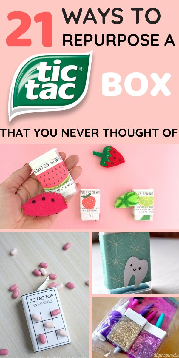 21 Ways To Repurpose A Tic Tac Box That You Never Thought Of