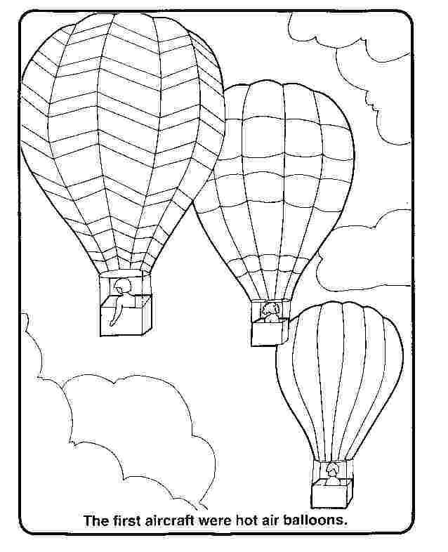 Free Printable Hot Air Balloon Coloring Pages For Kids ...
