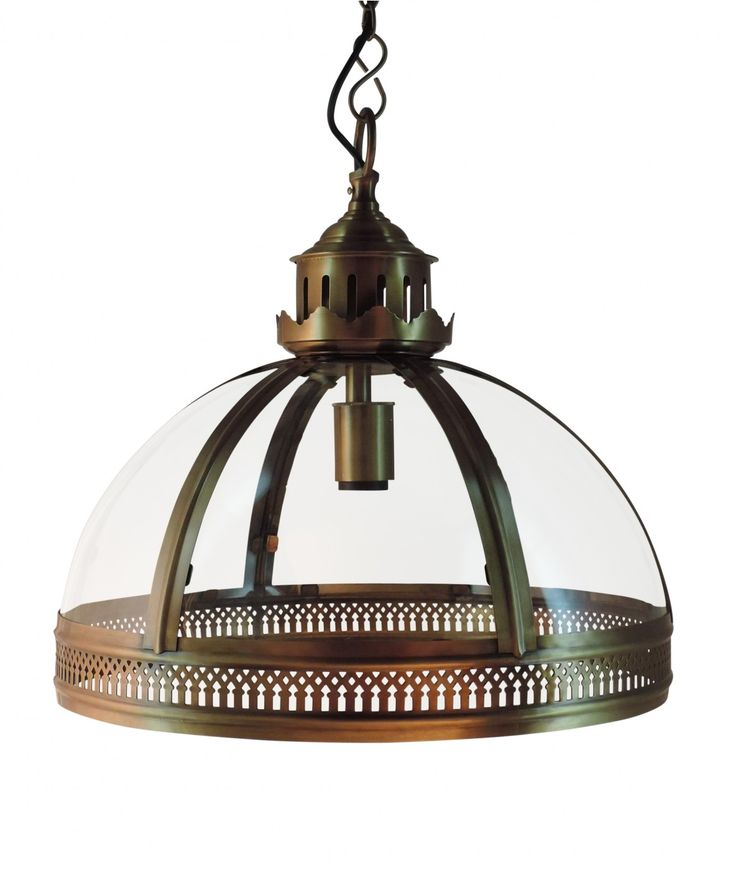 Based on a Victorian-era fixture found in a grand European hotel, our Dome Pendant pairs the intricate open metalwork typical of flame-powered lanterns with the modern drama of an internal candelabra.  	NB: This item is due to arrive mid September, 2014 - forward orders can be taken