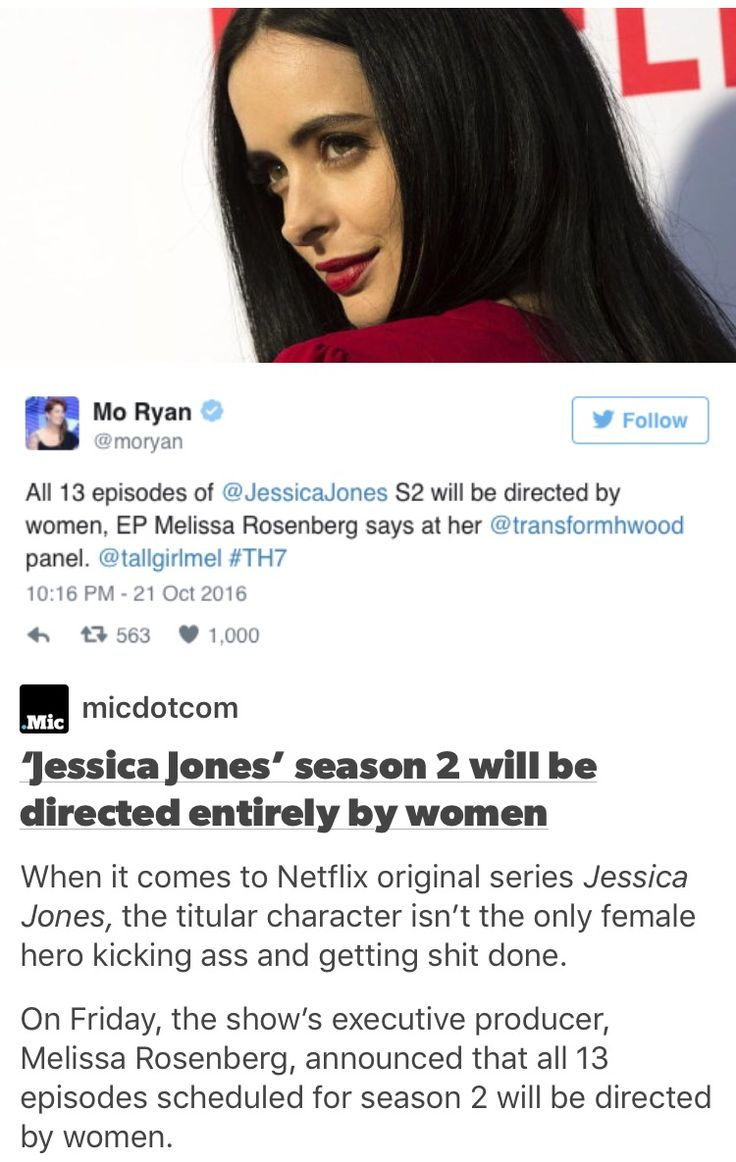 Jessica Jones' season 2 will be directed entirely by women
