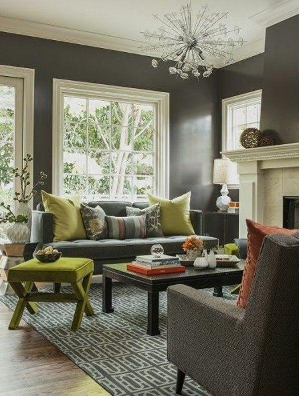 1001 Wandfarben Ideen Fr Eine Dramatische Wohnzimmer Gestaltung