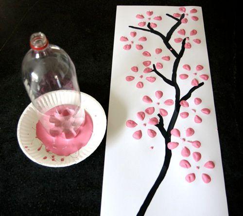 pintando con botellas