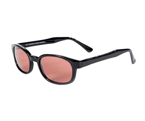 X KD Sunglasses Rose Colored Tint Glasses Biker Shades Large Size UV400