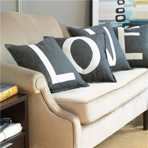 Spell It Out pillows by Zinc Door. I love this idea.Bedrooms Pillows, Delight Decor, Fun Families Room Ideas, Heart Pillows, Ideas For Living Room Crafts, Future Dreams, Mud Room, Future Ideas, Diy Decor