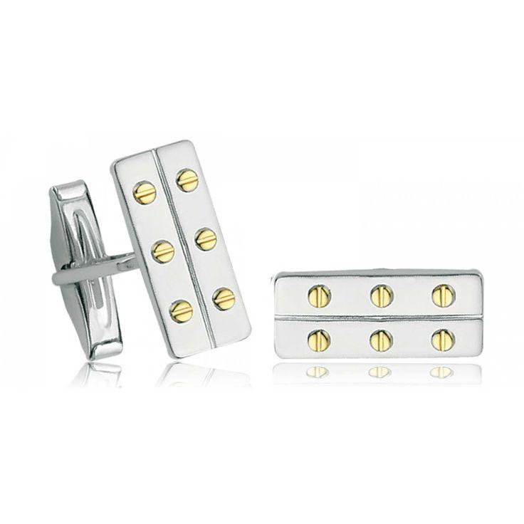 Men silver Coccinelle cufflinks - Bijoux GL