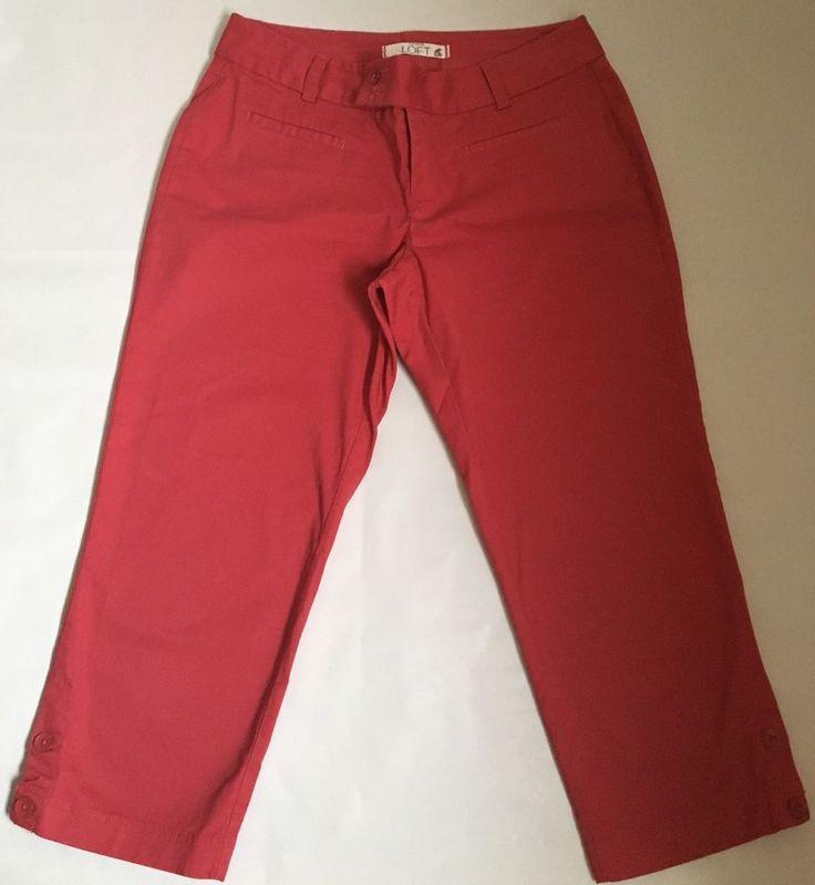 Ann Taylor Loft  Women's Capris Cropped Pants Size 2P 97% Cotton 3% Spandex #AnnTaylorLOFT #CaprisCropped
