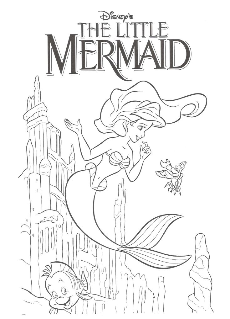 4KraftyKidz Home Page Birthday Mermaid coloring