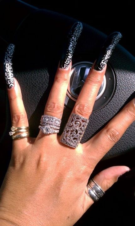 89 best long nails images on pinterest long nails nail scissors and acrylics - Diva nails and beauty ...