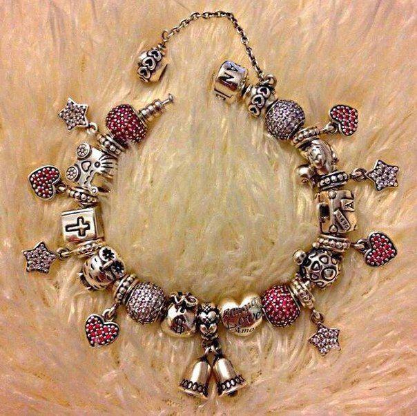 в стиле Пандора Pandora шармы бусины браслеты кольца серьги кулоны