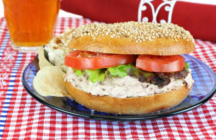 A far cry from being a boring dry sandwich this bagel is the perfect brain food to keep you focused during the day. It makes an amazing lunch hot or cold and feel free to play about with other sauces, barbecue works fantastically.