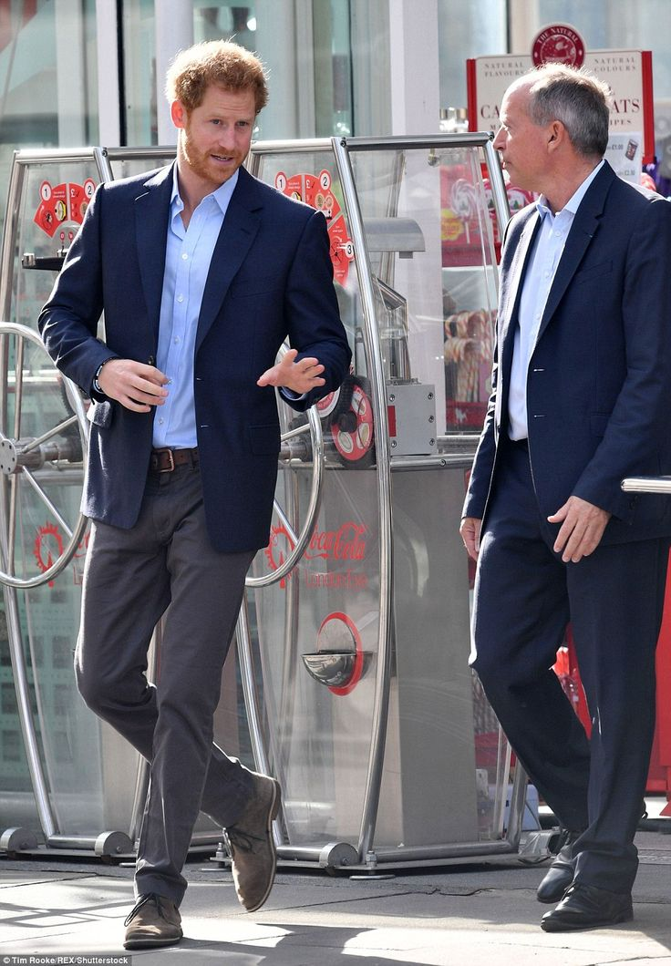 Prince Harry leaves The London Eye after a visit to the iconic tourist attraction with William and Kate