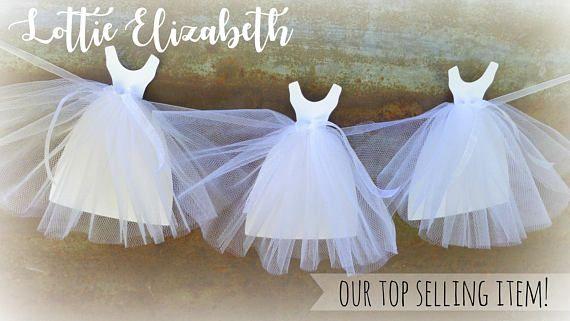 Wedding Dress Garland Paper Bridal Shower Decoration