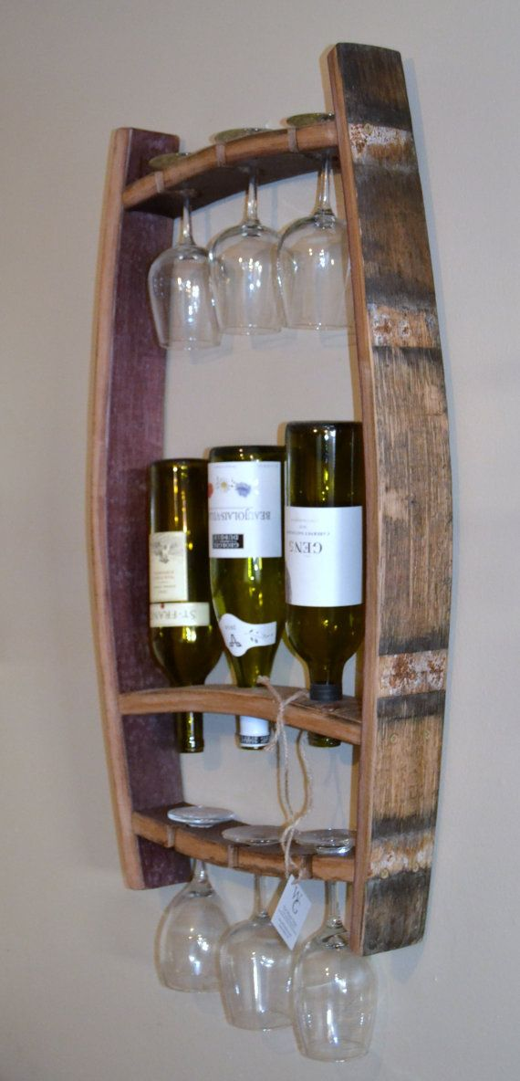 SALE SALE SALE Originally priced @$119.99  This stunning piece was crafted from recycled Napa Valley wine barrels. It will hold 3 bottles of your favorite wine along with six wine glasses. The oak wine staves have been sanded and treated to accommodate for indoor or outdoor use.   Feel good about doing business with The Winey Guys, re-inventing what we can, to help our environment.  All Winey Guys products are created from recycled wine barrels. Since all barrels are unique in size…