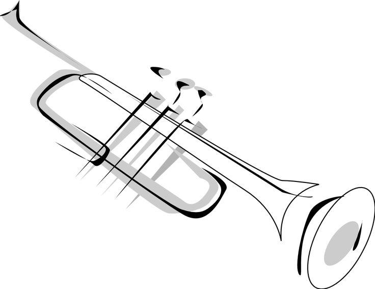 Simple Trumpet Tattoo Design