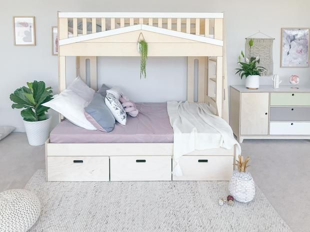 Family Urban Bunk Bed Magic Of Wood Nz In 2020 Bunk Beds Bunks Loft Bed