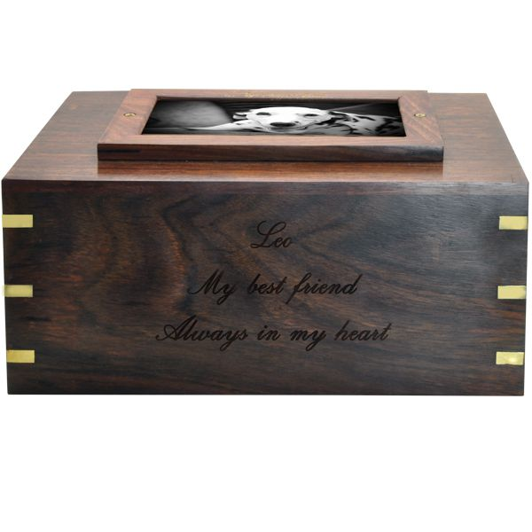 Perfect Wooden Box Photo Frame Dog Urn X Large With Images Wooden Boxes Dog Urns Wood Urn