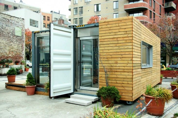 Cottage made from a recycled shipping container l Gardenista