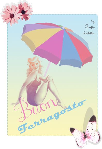 Buon Ferragosto free clipart l'immagine è prelevabile sul blog http://graficscribbles.blogspot.it/2014/08/buon-ferragosto-free-clipart.html