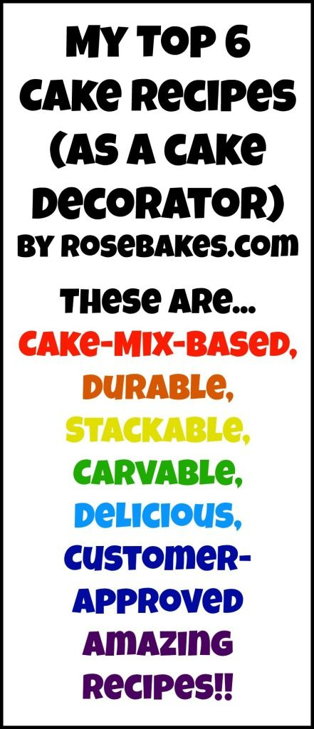 My Top 6 Favorite Cake Recipes for Cake Decorating #cake #decorating #cakedecorating #recipes