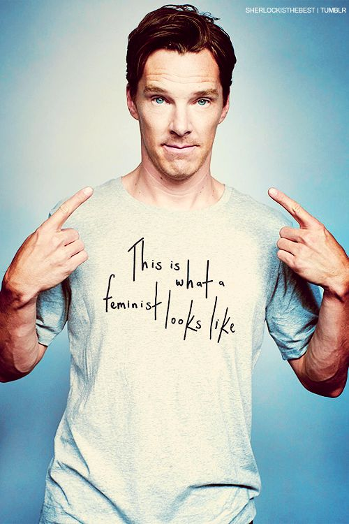 Benedict Cumberbatch: This is what a feminist looks like. | @andwhatelse