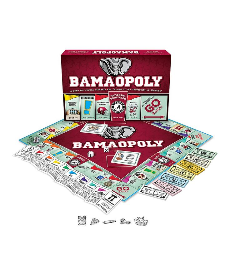 Take a look at this Bama-Opoly Board Game today!