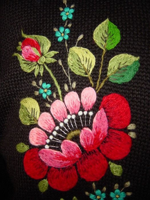 Lots of Estonian embroidery embellishments