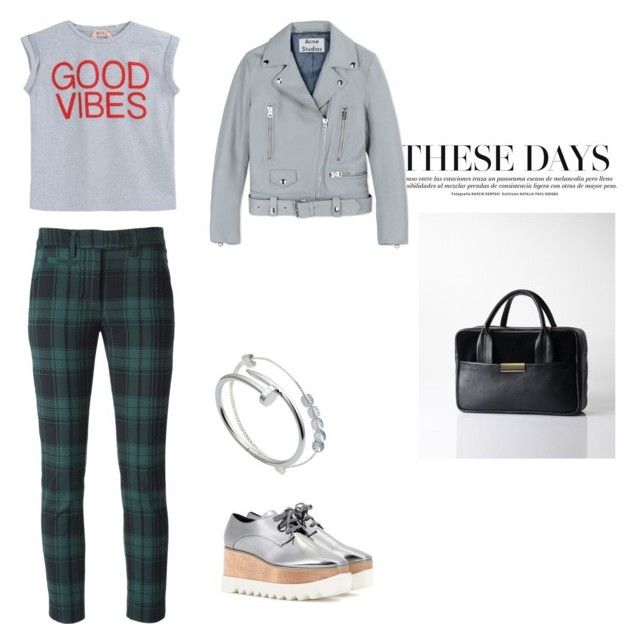 """""""Good Vibes"""" by opelle-creative on Polyvore featuring Dondup, N°21, Alex and Ani, Acne Studios, STELLA McCARTNEY, Cartier, women's clothing, women, female and woman"""