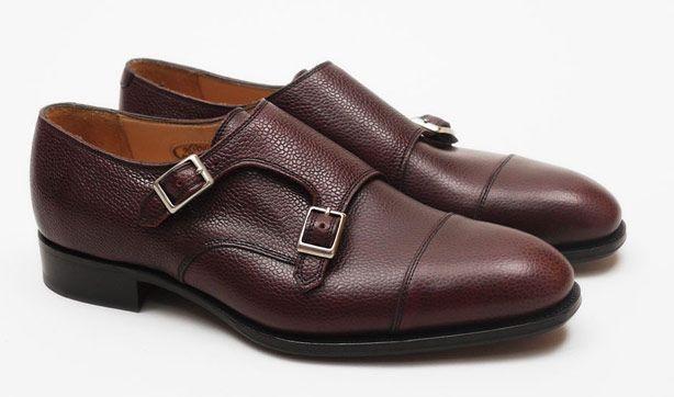 Hardy Amies Double Monk Strap Cap Toe Shoes