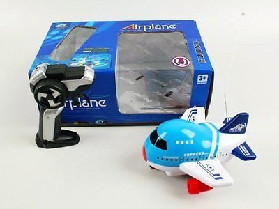 cool RC Jumbo Jet Remote Control Airplane with Lights and Sound (Colors Vary) New - For Sale